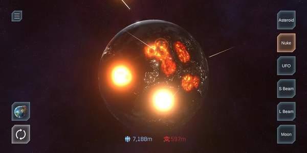 星球毁灭模拟器最新版有护盾下载-星球毁灭模拟器最新版无敌盾下载