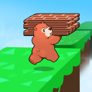 可爱熊搬砖块